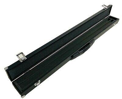 Snooker Pool Cue Case for 2 Piece Extension Hard Centre Split Padded With Lock