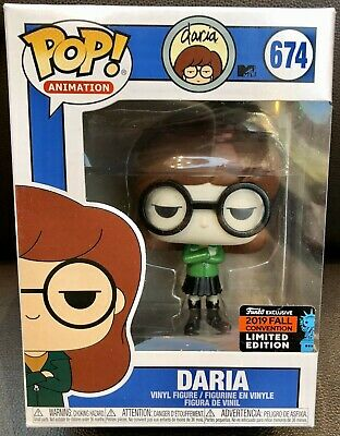 Funko Pop! DARIA Animation #674 NYCC 2019 Shared Exclusive (Game Stop) NIB Mint!