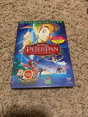 Peter Pan (DVD, 2007, 2-Disc Set, Platinum Edition) Comes With Slip Cover & Case