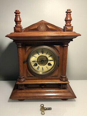 Antique Junghans Mantle Clock Working Key Included.