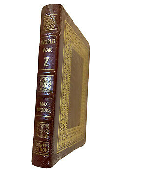 World War Z ✎SIGNED✎ by MAX BROOKS New Sealed Easton Press Leather Gift Hardback