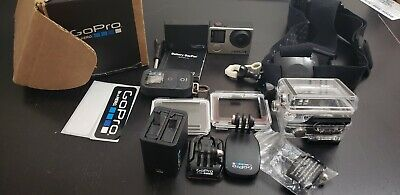 GoPro HERO 4 Black Edition 4K 1080P Camera Camcorder plus random accessories.