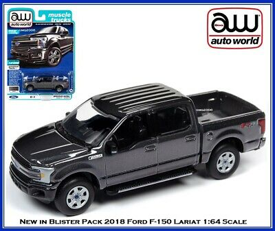 Auto World 1//64 2018 Ford F-150 Abyss Gray