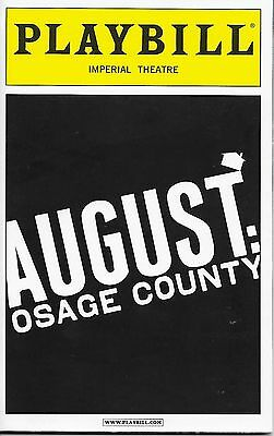 August Osage County Broadway Playbill Opening Night