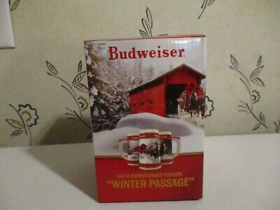 "2019 Budweiser Holiday Stein 40th Anniversary ""Winter Passage"""