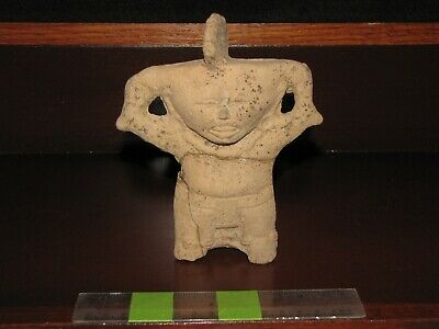 Pre Columbian, Pottery, Tested, Veracruz, Rare Fig/With Smiling Face, + 100 1000