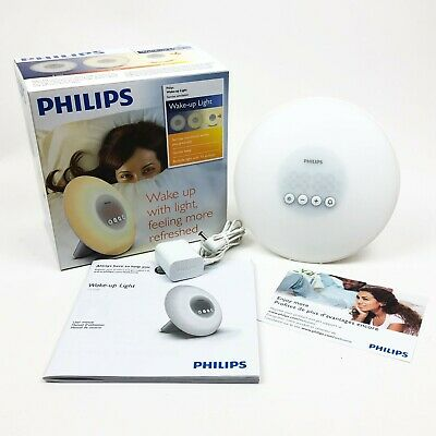 Philips Wake-up Light Sunrise Simulation Gentle Beep HF3500 NOB Alarm Clock