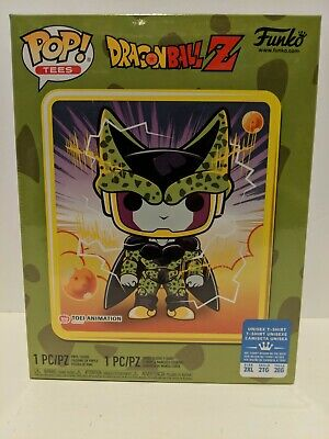 Funko Pop! Dragon Ball Z Perfect Cell Box~ Sealed~ Gamestop Exclusve~ 2Xl Tee~