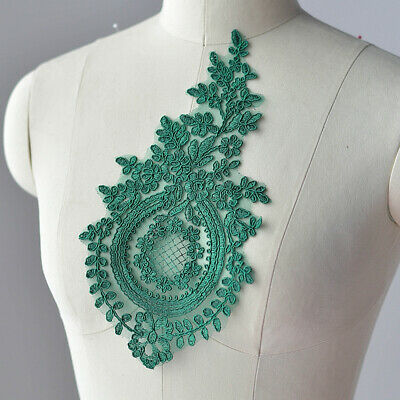 Embroidered Floral Applique Lace Patch Trim Handmade Sewing DIY Wedding Dress