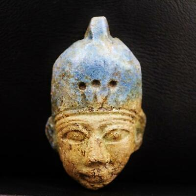 Rare Antique Faience Amulet Figurine of Ancient Egyptian
