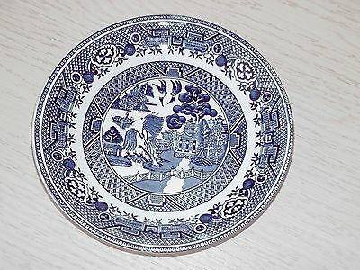 W Adams & Sons Old Vintage Blue & White China Willow Pattern Saucer 14.5cm Dia