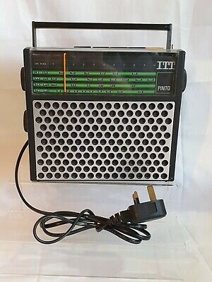 ITT pinto Transistor Radio 1970s Vintage Fully Tested Working Retro