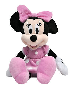 """Minnie Mouse Plush Doll 11"""" Pink Toy"""