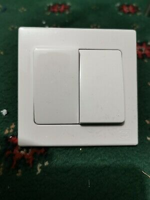 5 x MK 2 Gang Wide Light Switch  ( Pack of 5 )  FREE POSTAGE
