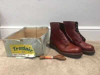 Vintage Tredair Dr.Martens Tan Low Boot 70s Deadstock Made In England BNIB 7.5