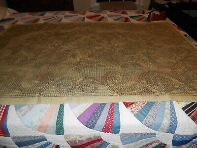 """Vintage Paragon Stamped Cross Stitch Rug Canvas Approx. 39""""X58"""" w/Instructions"""