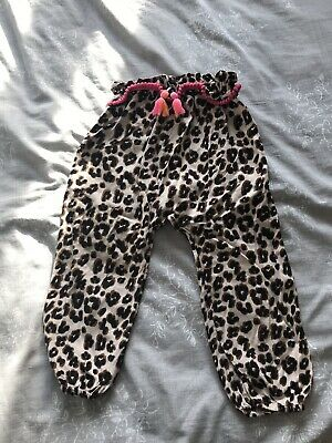 Next Girls Leopard Print Trousers Age 2-3 Years