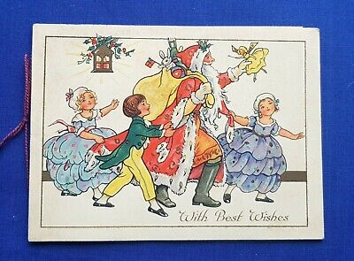 Antique Vintage Early 20th Century Christmas Card - Santa Claus Father Christmas