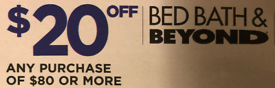 Bed Bath & Beyond Coupon! $20 OFF $80 Purchase! Online or In Store! Exp 1/6/20