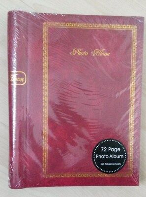 72 Page Photo Album - Red
