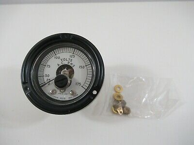 "Phaostron Voltmeter 2-9/16"" 0-175 AC RMS 623-16826 New Without Box"
