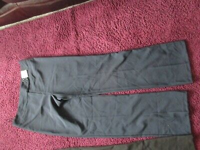 Bnwt Ladies Smart Work Trousers Or Older Girls School Trousers Size 12 Navy Blue