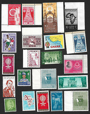 (111cents) World wide Collection of mint Stamp MH & MNH X 50+