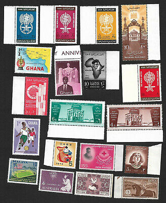 (111cents) World wide Collection of mint Stamp MH & MNH X 40+