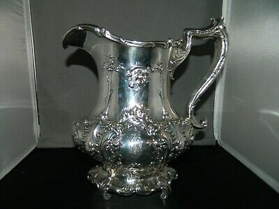 Ornate Gorham Sterling Silver Water Pitcher 3 1/2 Pint, # A6407