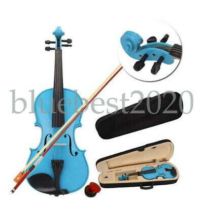 4/4 Acoustic Pure Sound Violin for Beginner Student with Case Bow Rosin Sky Blue