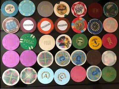 35 Casino Chip Lot Las Vegas Nevada Cruise Ships International Island California