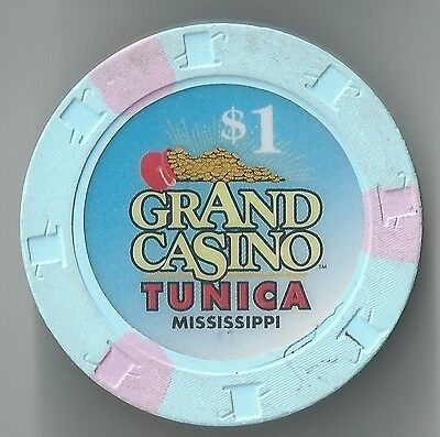 $1 Mississippi 1St Edt Grand Casino Chip Tunica Pot Of Gold H&C Mold