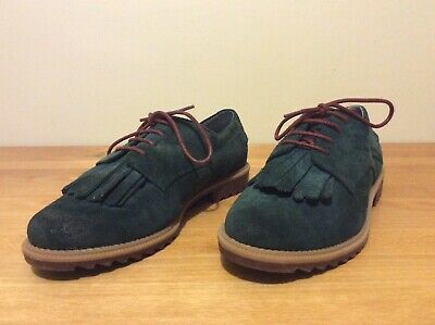 Clarks Blue Suede Shoes Size 5 Barely Worn