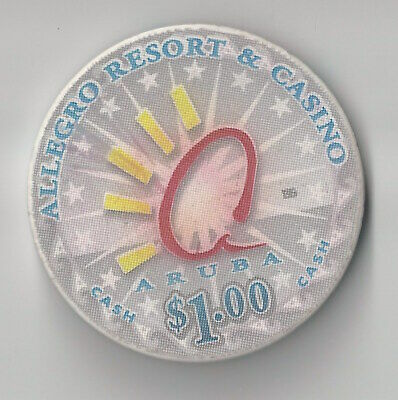 $1 Aruba Allegro Resort Casino Chip Poker Craps Island Cash Chipco