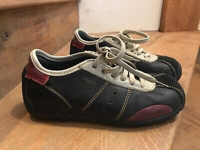 art company black red beige leather suede custom shoes size 3 eu 36 hardly worn