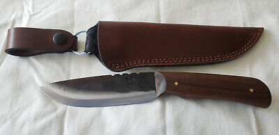"""Jeff White JRT 5"""" Blade Knife and Full Leather Sheath"""