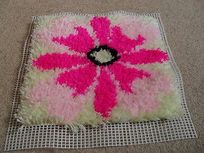 Completed latch hook cushion cover (Flower)