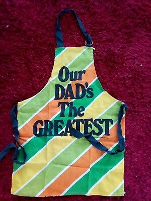 "Novelty Apron - ""Our Dad's The Greatest"" - Brand New - Multi-Coloured"