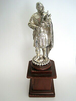 Victorian 1885 Sterling Silver Seaforth Highlanders Regimental Piper Statue