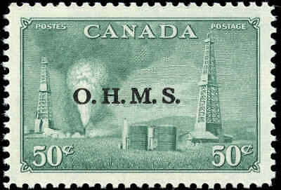 Stamp Canada Mint VF Scott #O11 50c Overprinted OHMS Resources Never Hinged