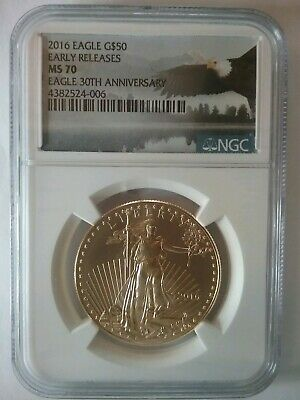 2016 Gold Eagle $50 1 oz American Gold Eagle  MS70  NGC