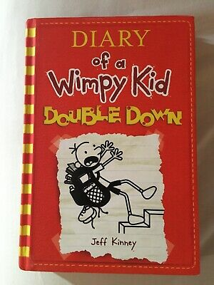 "Signed book JEFF KINNEY ""Diary of a Wimpy Kid - Double Down"" 2016 HC"