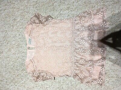 Girls Next pink Lace Party Top And Leggings Set Age 7 in vgc christmas party