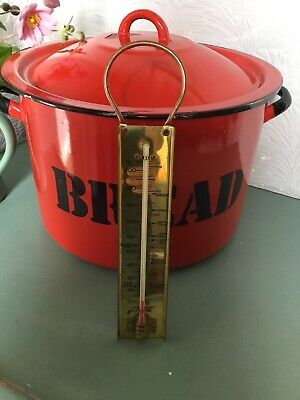 Vintage Hanging Brass Cooking Thermometer-Country Farmhouse