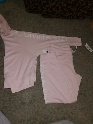 BNWT Ladies Size L Calvin Klein performance  Pink Loungwear Tracksuit size 14