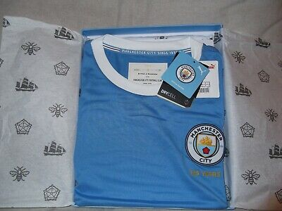 Manchester City 125 Year Anniversary Authentic Shirt – Boxed Limited Edition (L)