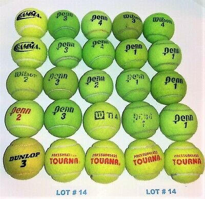 LOT# 14 OF 25 (USED TENNIS BALLS)-Good condition- REUSE & DOG TOYS