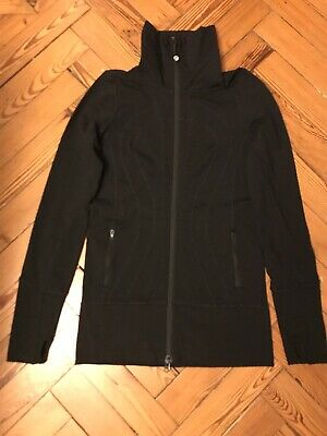 Lululemon Full Zip Jacket size 4 Black Gym/runningTop US4 UK8 XS-S