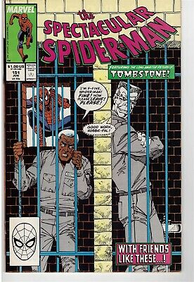 Peter Parker The Spectacular Spider-Man # 151 June 1989 Tombstone Puma Spidey