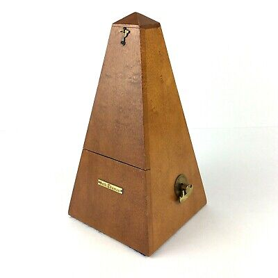 Vintage Seth Thomas Metronome De Maelzel Wood Brass Wind Up E873-111 ISS 3 USA